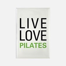 Live Love Pilates Rectangle Magnet (10 pack)