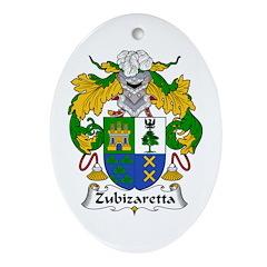 Zubizaretta Oval Ornament