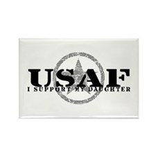 I Support My Daughter - Air Force Rectangle Magnet