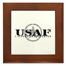 I Support My Daughter - Air Force Framed Tile