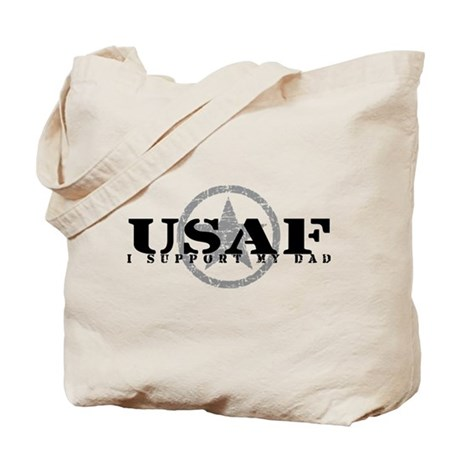 I Support My Dad - Air Force Tote Bag