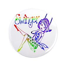 """GLBT / LGBT Swinger 3.5"""" Button"""