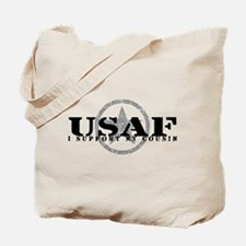 I Support My Cousin - Air Force Tote Bag