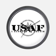 I Support My Cousin - Air Force Wall Clock