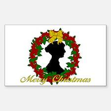 Jane Austen Christmas Rectangle Decal