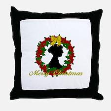 Jane Austen Christmas Throw Pillow