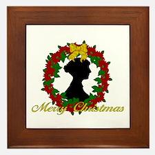 Jane Austen Christmas Framed Tile