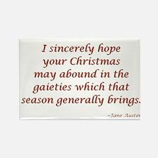 Jane Austen Christmas Rectangle Magnet