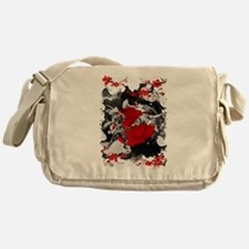 Samurai Fighting Messenger Bag