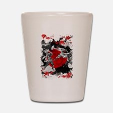 Samurai Fighting Shot Glass