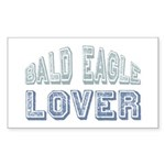 Bald Eagle Lover Bird Love Rectangle Sticker