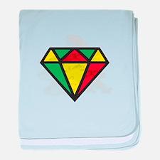 Reggae Diamond baby blanket