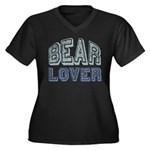 Bear Lover Grizzly Black Brown Women's Plus Size V