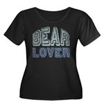 Bear Lover Grizzly Black Brown Women's Plus Size S
