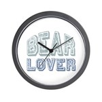 Bear Lover Grizzly Black Brown Wall Clock