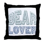 Bear Lover Grizzly Black Brown Throw Pillow