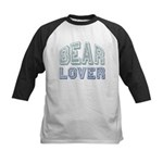 Bear Lover Grizzly Black Brown Kids Baseball Jerse