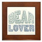 Bear Lover Grizzly Black Brown Framed Tile