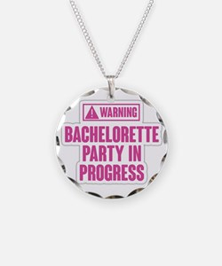 Warning Bachelorette Party i Necklace Circle Charm