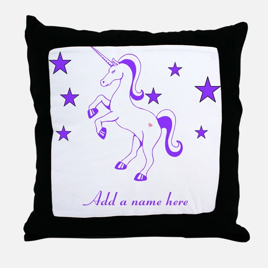 Personalizable Unicorn Throw Pillow