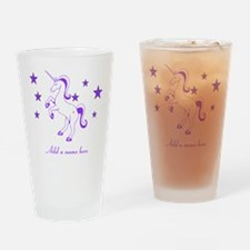 Personalizable Unicorn Drinking Glass