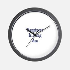 Happiness is being Asa Wall Clock
