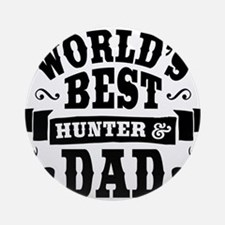 Hunter Dad Round Ornament