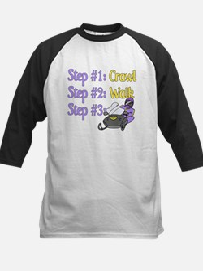 Step 1... Step 2... Kids Baseball Jersey