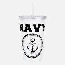 Navy Acrylic Double-wall Tumbler