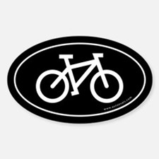 Bicycle (cycling) Auto Decal -Black (Oval) Decal