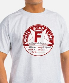 "White Star Line Luggage Tag- ""Molly T-Shirt"