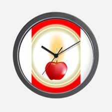 Apple Candle Wall Clock