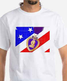 Flag and Purple Heart T-Shirt