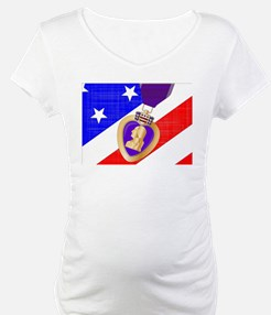 Flag and Purple Heart Shirt