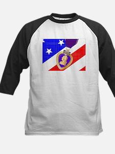 Flag and Purple Heart Baseball Jersey