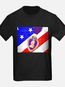 Flag and Purple Heart T-Shirt