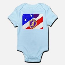Flag and Purple Heart Body Suit