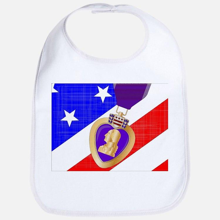 Flag and Purple Heart Bib