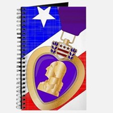 Flag and Purple Heart Journal