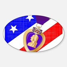 Flag and Purple Heart Decal