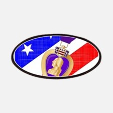 Flag and Purple Heart Patch