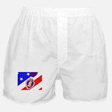 Flag and Purple Heart Boxer Shorts