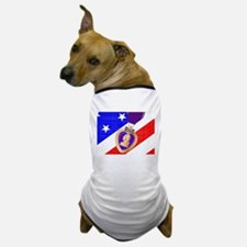 Flag and Purple Heart Dog T-Shirt