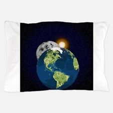 Earth Moon and Sun Pillow Case