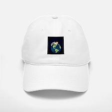 Earth Moon and Sun Baseball Baseball Cap