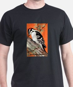 Downy Woodpecker Bird (Front) T-Shirt