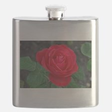 Single red rose Flask