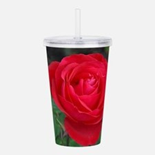 Single red rose Acrylic Double-wall Tumbler