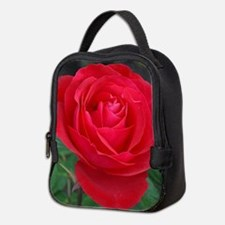 Single red rose Neoprene Lunch Bag