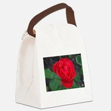 Single red rose Canvas Lunch Bag